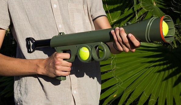 Zignature Dog Food Reviews >> BazooK-9 Tennis Ball Launcher Gun Review 2018 - doggiefetch