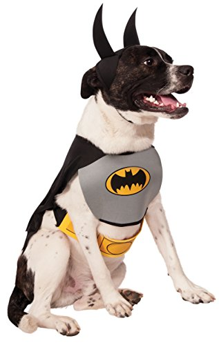 owners can find this superhero costume for nearly any pet size from pet poodle to a large or x larger breed there is a batman costume which is sure to
