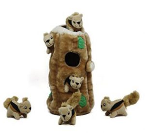 Outward Hound Kyjen 31004 Hide A Squirrel Plush Dog Toy 7 Piece, Ginormous, Brown