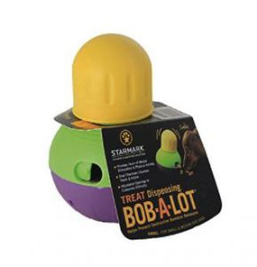 Starmark SMBALS Bob-A-Lot Interactive Dog Toy, Small